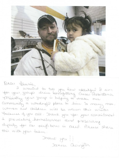 Crisis Assistance Thank you Note